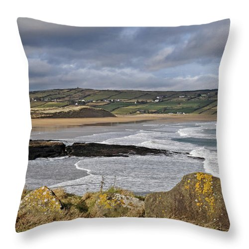 Ireland Throw Pillow featuring the photograph Back Strand 5 by Marion Galt
