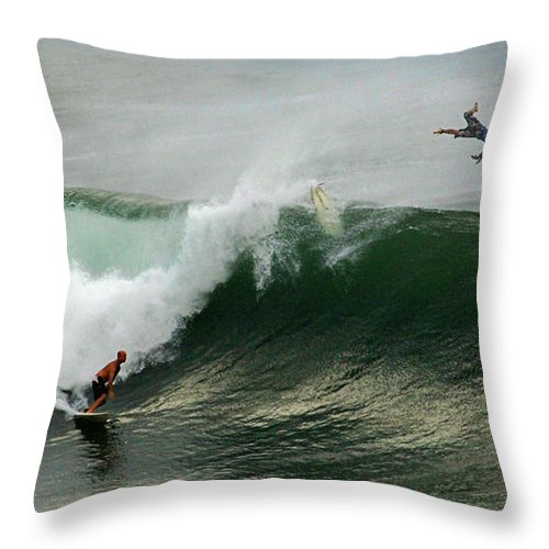 Hawaii Throw Pillow featuring the photograph Bailing by Bob Christopher