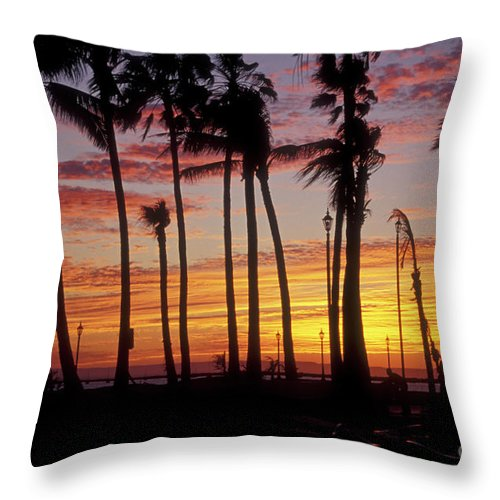 Mexico Throw Pillow featuring the photograph Baja Sunset La Paz Mexico by John Mitchell
