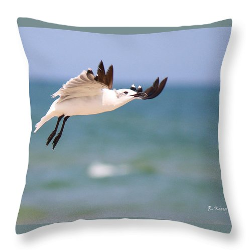 Roena King Throw Pillow featuring the photograph Ballerina Performing A Grand Jete by Roena King
