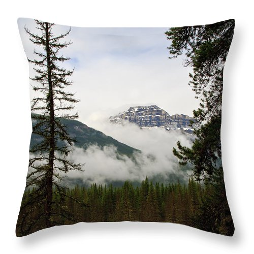 Mountain.landscape Throw Pillow featuring the photograph Banff View by Dennis Hedberg