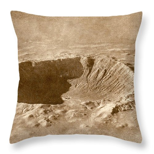 Meteor Crater Throw Pillow featuring the photograph Barringer Crater by Science Source