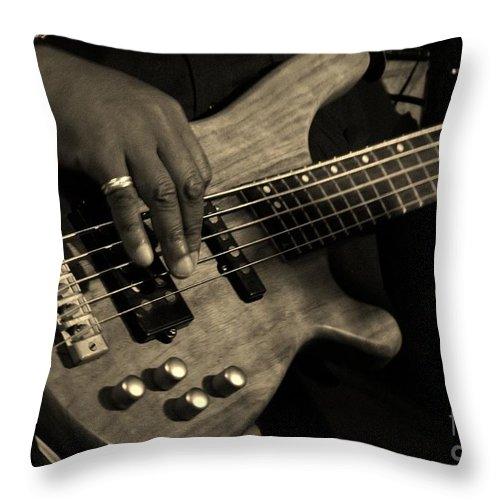 Bass Throw Pillow featuring the photograph Bass by Chris Berry