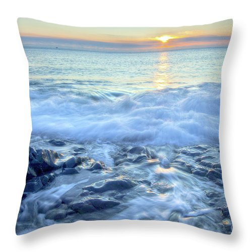 America Throw Pillow featuring the photograph Bathed In Blue by Susan Cole Kelly