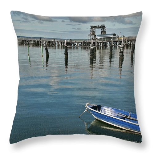 Boat Throw Pillow featuring the photograph Bay Of Whispers by Stephen Mitchell