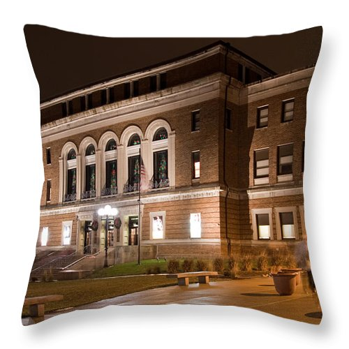 Architecture Throw Pillow featuring the photograph Bcpa by Jim Finch