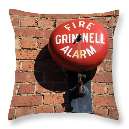Alarm Throw Pillow featuring the photograph Be Alarmed by Stephen Mitchell
