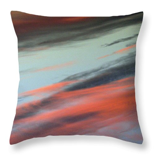 Clouds Throw Pillow featuring the photograph Beach Clouds by Pamela Patch