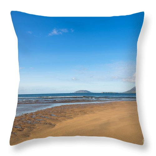 Beach Throw Pillow featuring the photograph Beach Ireland by Andrew Michael