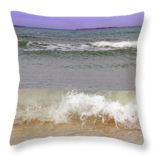 Waves Throw Pillow featuring the photograph Beach Waves by Gord Patterson