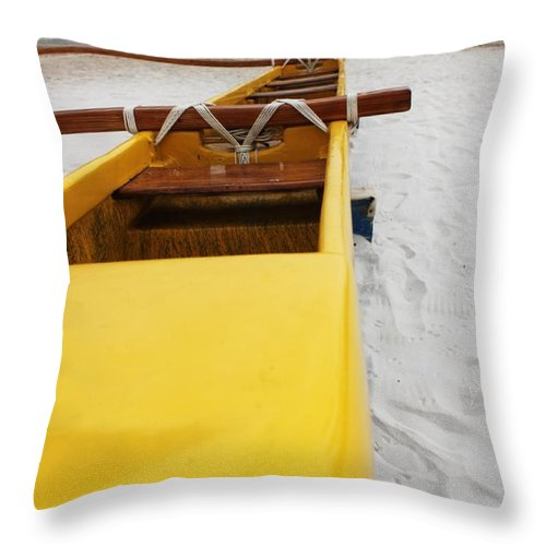Beach Throw Pillow featuring the photograph Beached by Caroline Lomeli