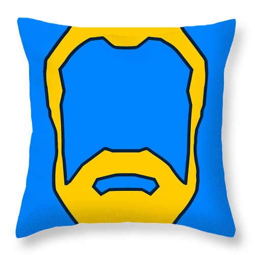 Face Throw Pillow featuring the digital art Beard Graphic by Pixel Chimp