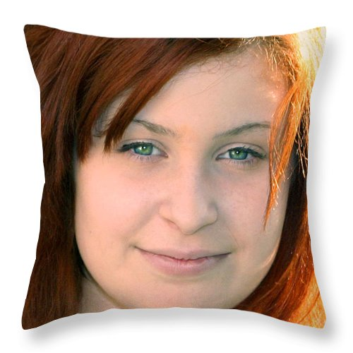 People Throw Pillow featuring the photograph Beautiful Teen Portrait by Susan Stevenson