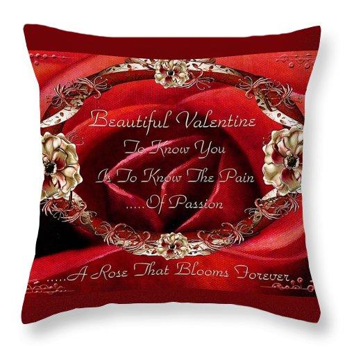 Valentine Throw Pillow featuring the painting Beautiful Valentine by Georgiana Romanovna
