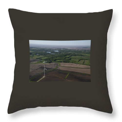 Aerial Throw Pillow featuring the photograph Beauty From Above by Jim Finch