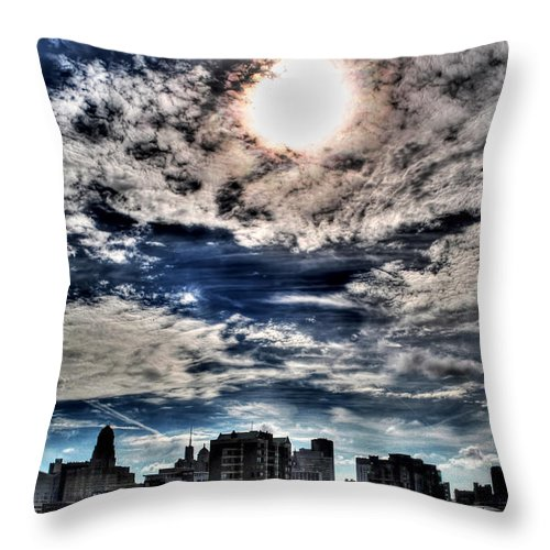 Throw Pillow featuring the photograph Beauty Of The Morning Sky by Michael Frank Jr