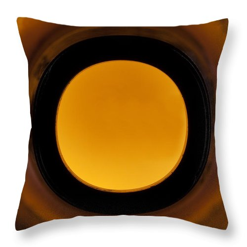 Beverage Throw Pillow featuring the photograph Beer Bottle Neck 1 F by John Brueske