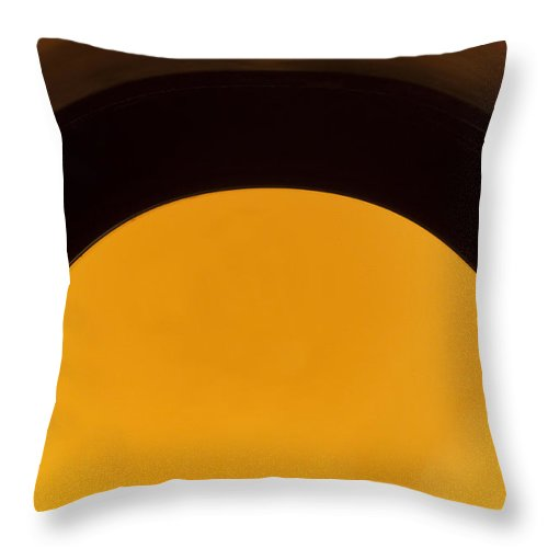 Beverage Throw Pillow featuring the photograph Beer Bottle Neck 1 G by John Brueske