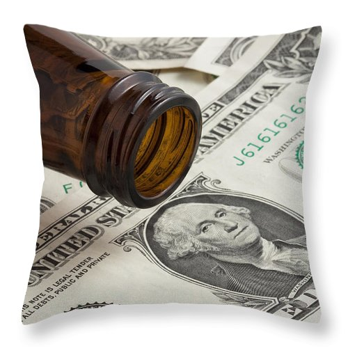Bottle Throw Pillow featuring the photograph Beer Money 1 A by John Brueske