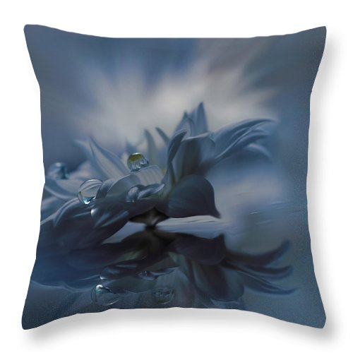 Aesthetic Throw Pillow featuring the photograph Behind Closed Eyes... by Juliana Nan