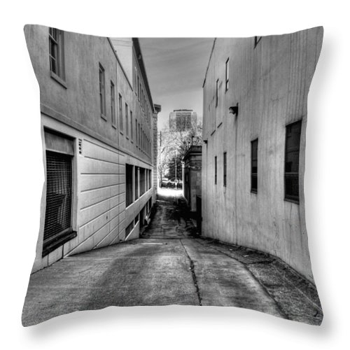 Buildings Throw Pillow featuring the photograph Behind The Scene by Dan Stone