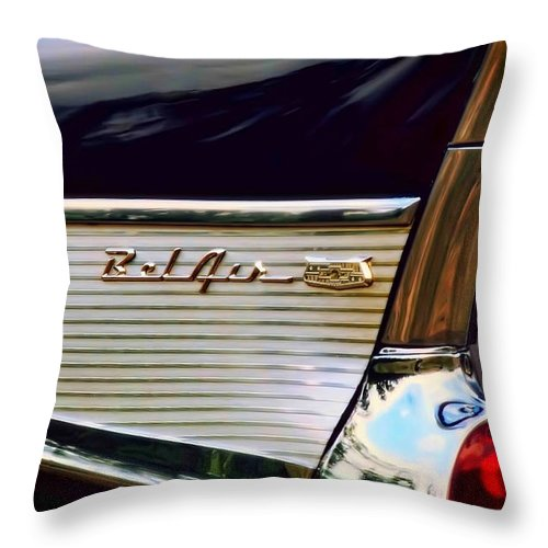 1957 Throw Pillow featuring the photograph Bel Air by Scott Norris