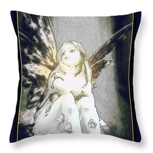 Bells Art Prints Throw Pillow featuring the photograph Bell Fairy by Danielle Parent