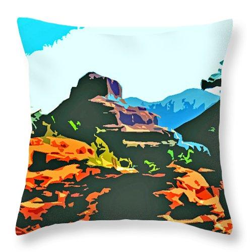 Bell Rock Throw Pillow featuring the photograph Bell Rock Sedona Arizona by Jerome Stumphauzer