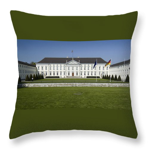 Bellevue Throw Pillow featuring the photograph Bellevue Palace Berlin by RicardMN Photography