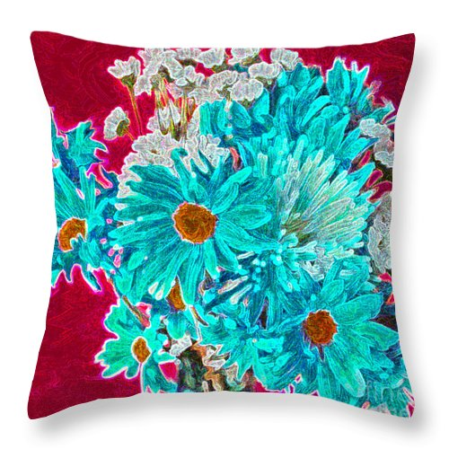 Flowers Throw Pillow featuring the painting Beneath The Bouquet by Rita Brown