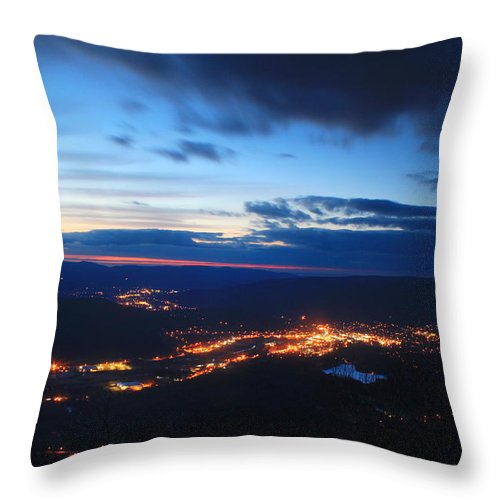 Berkshires Throw Pillow featuring the photograph Berkshire Evening From Spruce Hill Savoy Mountain by John Burk