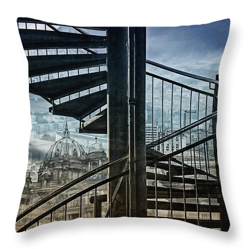 Berlin Throw Pillow featuring the photograph Berlin by Claudia Moeckel
