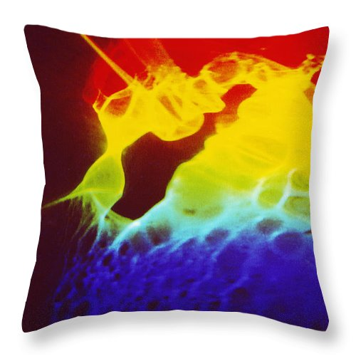 Abstract Throw Pillow featuring the photograph Beth's Dream by David Rivas