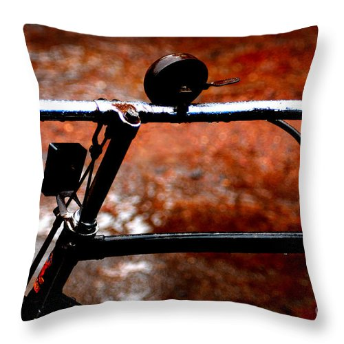 Bicycle Throw Pillow featuring the photograph Bicycle by Dattaram Gawade