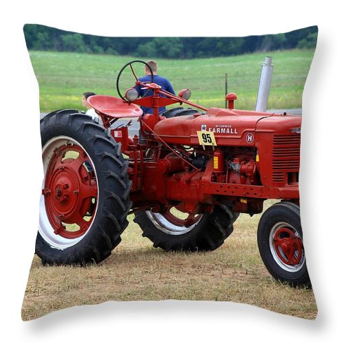 Farmall Throw Pillow featuring the photograph Big Red by Monica Wheelus