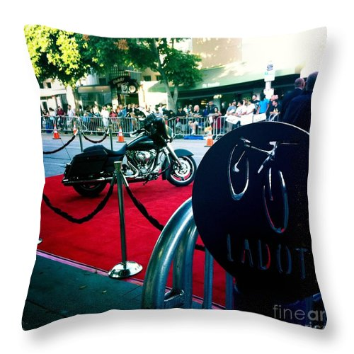 Bike Parking Throw Pillow featuring the photograph Bike Parking by Nina Prommer