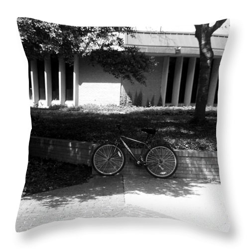 Photography Throw Pillow featuring the photograph Bike by Shelia Bull