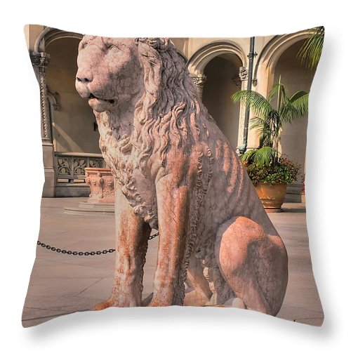 Biltmore Throw Pillow featuring the photograph Biltmore Lion by Andrew Webb