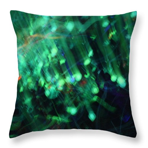 Big Bang Throw Pillow featuring the photograph Bindu The Big Bang by Pat Purdy