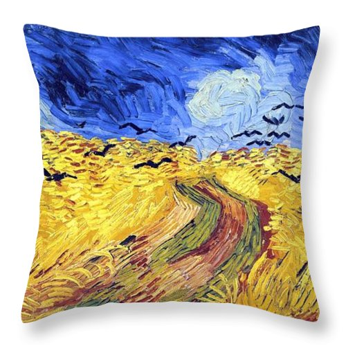 Farm Throw Pillow featuring the photograph Birds And Lands by Sumit Mehndiratta