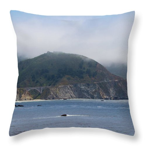 Landscapes Throw Pillow featuring the photograph Bixby Bridge On Highway 1 by Roger Mullenhour