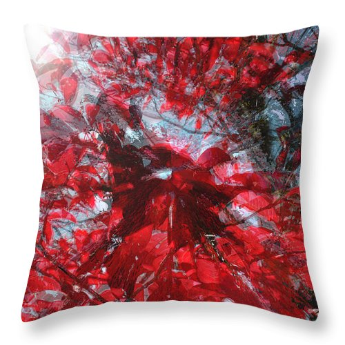 Black And Red Crescendo Throw Pillow featuring the photograph Black and Red Crescendo by Seth Weaver