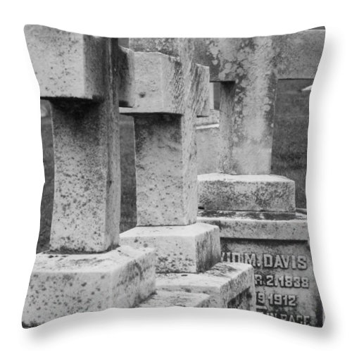 Crosses Throw Pillow featuring the photograph Black And Whtie Corsses by Michele Nelson