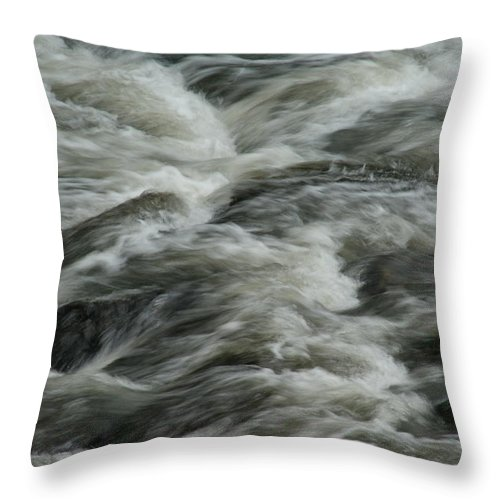 River Throw Pillow featuring the photograph Black Water by Brian Kerls