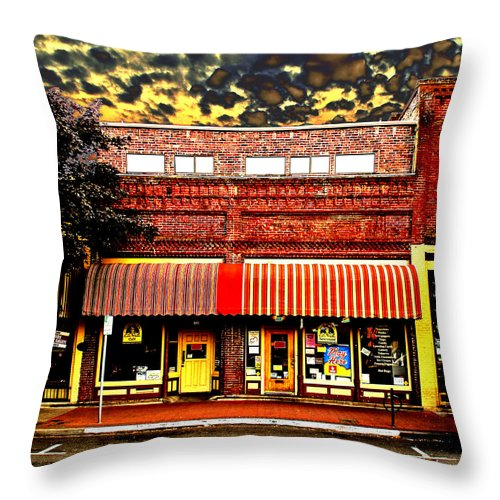 Blind Georges Throw Pillow featuring the photograph Blind Georges Fantasy by Mick Anderson