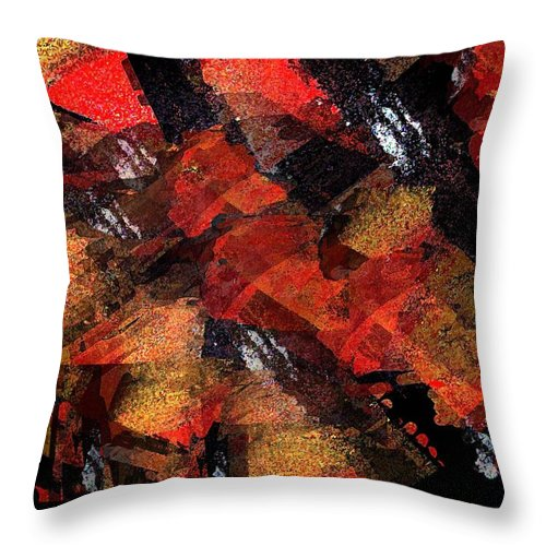 Non Duality Throw Pillow featuring the painting Blind Love Slaves by Paula Andrea Pyle