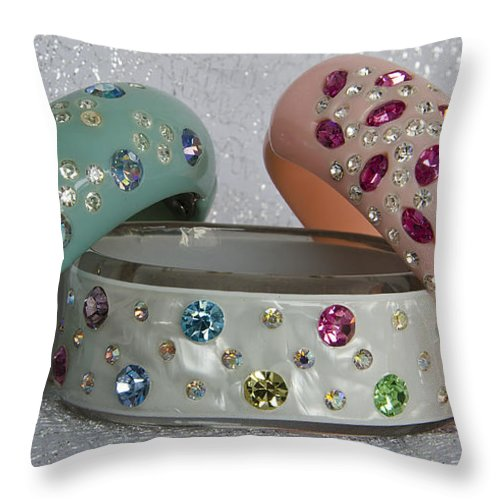 Vintage Throw Pillow featuring the photograph Bling by Jim And Emily Bush