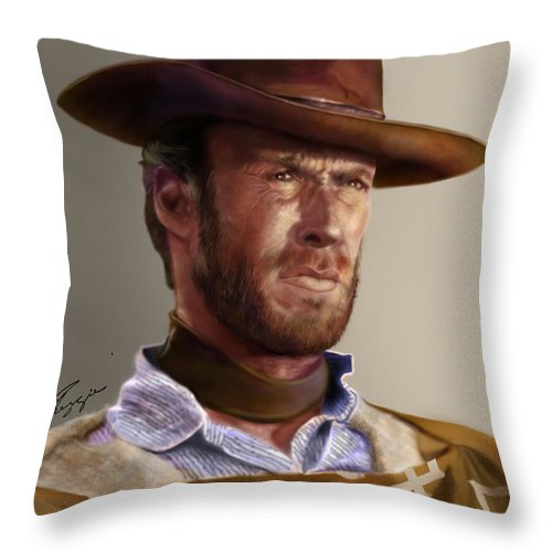 Blondie Clint Eastwood Throw Pillow For Sale By Reggie Duffie