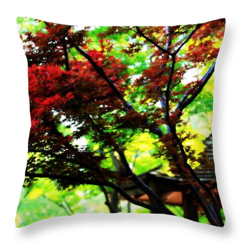 Japanese Throw Pillow featuring the photograph Blood Root by Elizabeth Hart