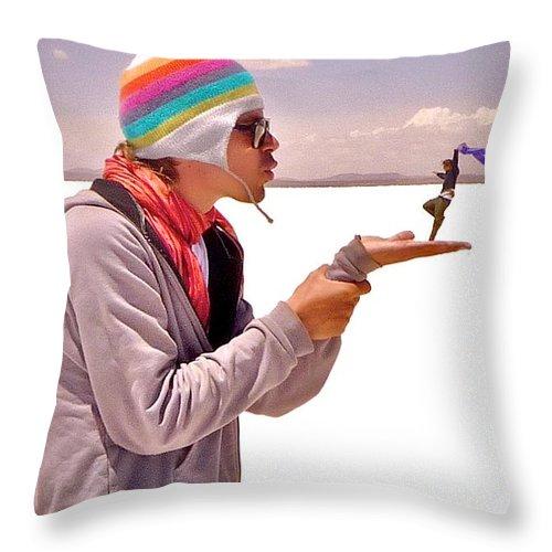 Men Throw Pillow featuring the photograph Blown Away II by Valerie Rosen